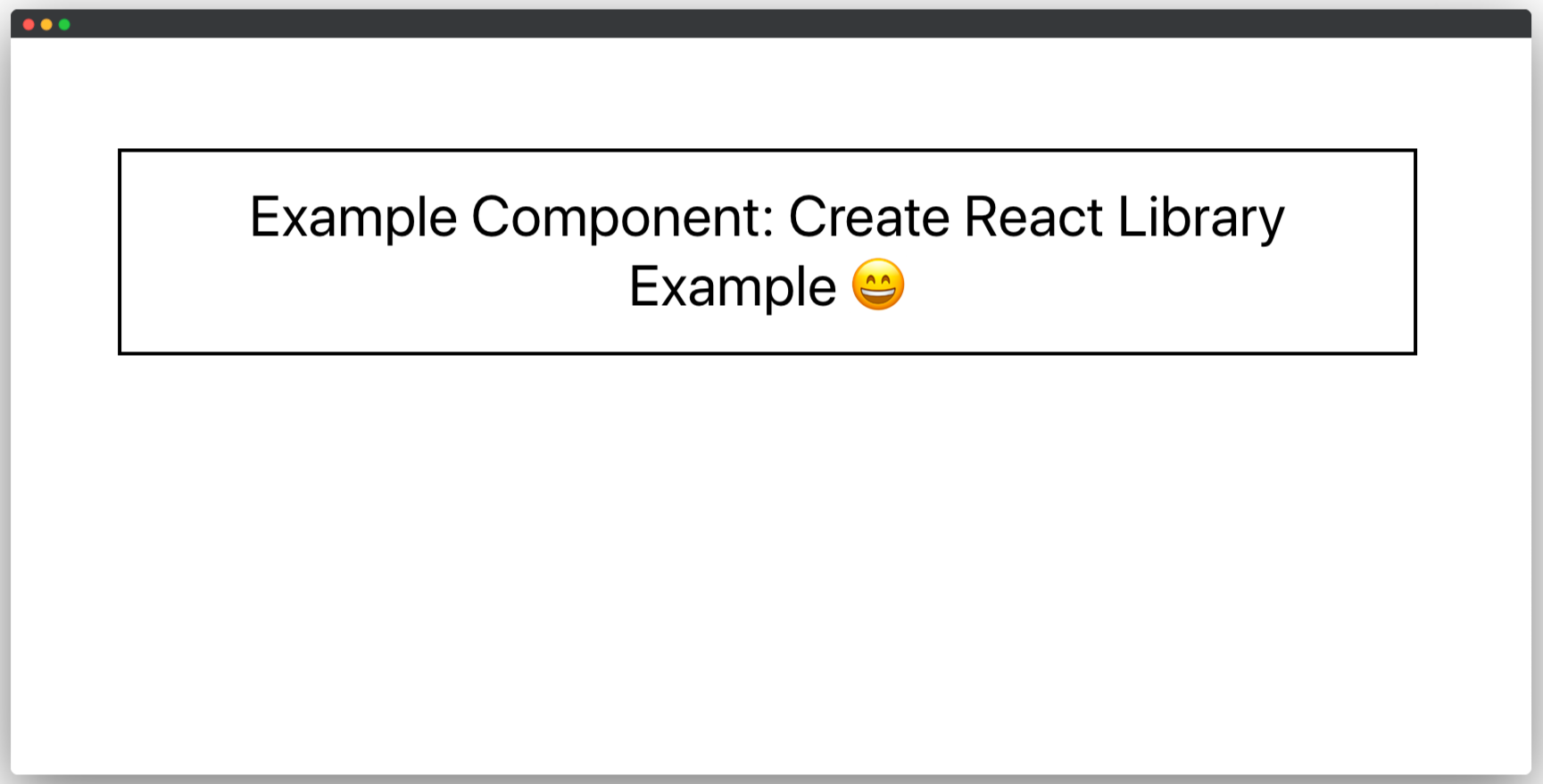 Sample create-react-app application